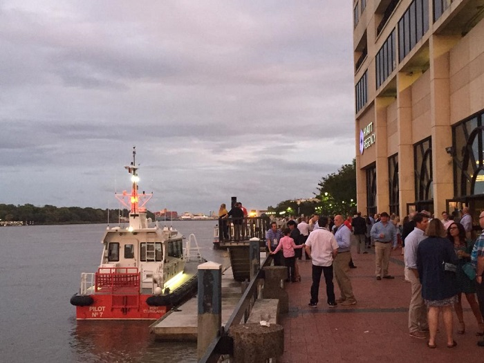 APA members enjoying a nice evening in Savannah